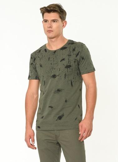Lee Cooper Desenli T-Shirt Haki